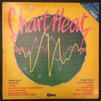 "CHART HEAT - 1 of 2 - VARIOUS ARTISTS - Vinyl 12"" LP 1999 K-Tel 1982 VG/EX"