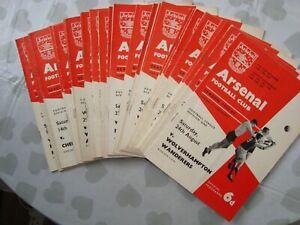 Full set of Arsenal 1963-64 home programmes - 26 programmes in all