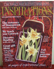 # 31 INSPIRATIONS EMBROIDERY MAGAZINE   2001 OOP AUSTRALIAN RARE ISSUE
