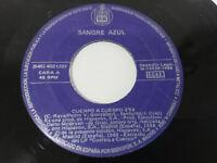 """Blut azul Körper A Körper + Siguelo Single 7 """" vinyl Vinyl 1988 Hispavox - Pa"""