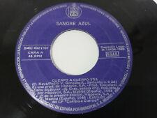 """SANGRE AZUL CUERPO A CUERPO + SIGUELO SINGLE 7"""" VINILO VINYL 1988 HISPAVOX - PA"""
