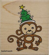 HOLIDAY MONKEY Rubber Stamp PS0244 Hampton Art Brand NEW! Christmas Alison Wong