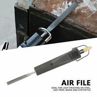 Pneumatic Air File Tool Set 4 Files flat cut, half round, Round & Triangular USA