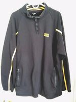 Men's Size XL Polo Jeans Co Ralph Lauren Dark Navy Blue With Yellow Sweater
