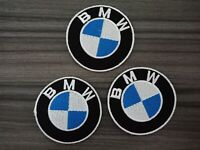 3pcs BMW Patches Car Racing Motorcycles MOTORSPORTS Embrodered Iron or Sewn on