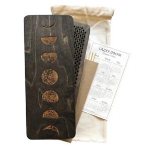 "Sadhu Board ""Moon"" 10 mm Brown For Yoga Handmade Natural Wood"