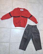 Kitestrings Boys Cardigan Sweater Dressy Pant Outfit Set, Size 4