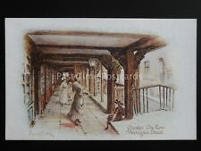 CHESTER The Row WESTGATE STREET Artist Hayward-Young c1908 Postcard Photochrom