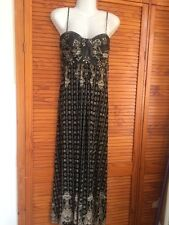 Therapy Black And Grey Floral Multi Coloured Maxi Dress Size 14