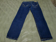 "HOLLISTER CALIFORNIA STRETCH TAPER LEG BLUE JEANS SIZE 7 W28 26 1/2"" INSEAM NICE"
