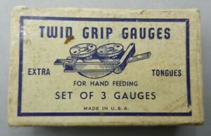 Original Box 3 TWIN GRIP GAUGES - AMERICAN WOOD TYPE NY - Tympan Printing Press