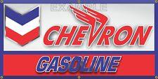 CHEVRON GASOLINE OIL SERVICE GAS STATION BANNER SIGN REMAKE GARAGE ART 2' X 4'