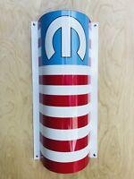 MOPAR AMERICAN MUSCLE Flag  Metal Sign 18 Inch Dodge Curved Sign