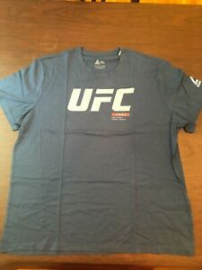 UFC Reebok Navy Blue T-Shirt - Size 3XL - NEW