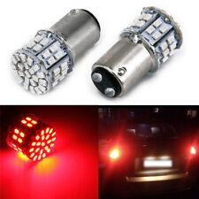 Set Stop 2x Light Tail Brake Lamp Long-lasting Rear Led Red 1206 12v Car Bulb