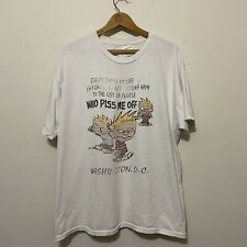 Vintage 90s Calvin and Hobbes Graphic T-shirt XL List of People Who Piss me off