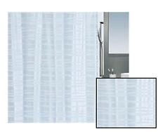 Spirella Onda Ice Blue Satin Textile Shower Curtain 70 7/8x78 11/16in Branded