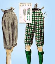 1950s Original Vintage Vogue Sewing Pattern 7804 Uncut Misses Shorts Size 28 W