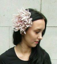 18bd4350 Large Beige Nude Flower Hair Clip Fascinator Bridesmaid Wedding Races Latte  7274