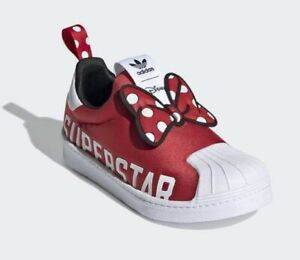 Adidas Superstar 360 X C # FX4901 Minnie Mouse Red Slip On Little Kids