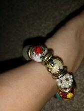 Monsoon Multicoloured Beaded Bracelet. Statement. Pearl. Floral. Girl Power. Art