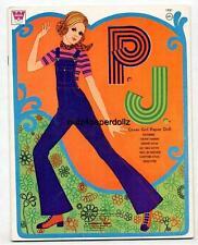 VINTAGE 1970 PJ PAPER DOLLS  P J  ~WHITMAN CUTE~ Fun Retro  LASER REPRODUCTION