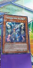 yugioh - thunder king rai-oh,yg02-en001, secret rare - top left corner damage