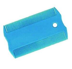 Dog Cat Flea Comb Blue Double Sided Grooming Tool Removes Flea and Coat Debris