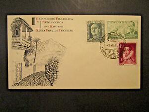 Spain 1954 Santa Cruz Philitelic Expo Cover - Z4022