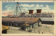 Noumea NC New Caledonia Les Quais Steamship & Docks Postcard