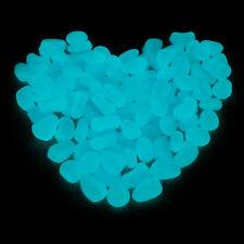 250g Blau Leuchtsteine Leuchtkiesel Garten Deko Kieselnachtleuchtend
