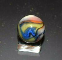 Handpicked Rare Early JABO UV Swirl Marble Shooter Size 29/32 = .906 Near Mint!