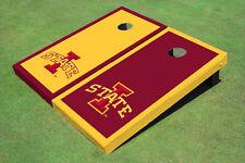 "Iowa State University ""I"" Alternating Border Custom Cornhole Board"