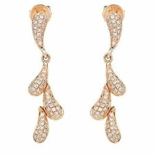 Diamond Rose Gold 14k Fine Earrings