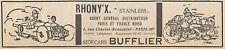 Y5848 Moto RHONY'X - Sidecars BUFFLIER - Pubblicità d'epoca - 1930 Old advert