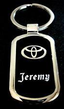 Toyota Black Onyx & Silver Key Chain-Free Engraving