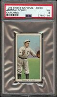 1909-11 T206 Admiral Schlei Catching Sweet Caporal 150 New York PSA 3 VG