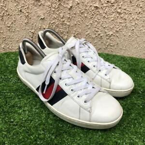 Gucci Ace Low Top Leather Mens Trainer Sneakers Size U.S 8