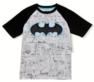 BATMAN DC COMICS Comfort Tee Comic Strip T-Shirt NWT Boys Size 6/7 or 10/12