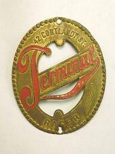 Vintage Terminal Racer 42 Cortland Street Bicycle Head Badge Emblem