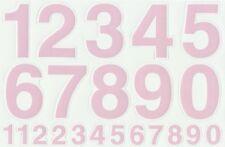 PLANCHE A4 TUNING QUAD 22 AUTOCOLLANT CHIFFRE ROSE FLUO 7 X 4,5 CMS