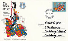 (41393) CLEARANCE GB Canterbury Cathedral FDC Medieval Warrior Black Prince 1974