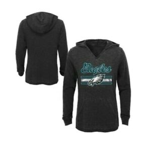 NFL Philadelphia Eagles Girls Game Time Burnout Hoodie Pullover Gray Size S 6/6x