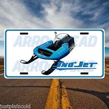 Sno Jet ThunderJet vintage snowmobile style licence plate