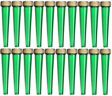 EZtube 20-Pack Joint Blunt Cigarette Tube Doob Holder Waterproof Airtight Green