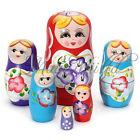 Set of 5pcs Matryoshka Russian Nesting Dolls Toy Wooden Doll Girl Children's Toy