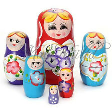 Set of 5pcs Matryoshka Russian Nesting Dolls Toy Wooden Doll Girl Children's Toy