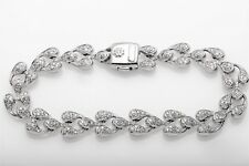 Signed $12,000 CHIMENTO 4ct VS G Diamond 18k White Gold Bracelet 27g