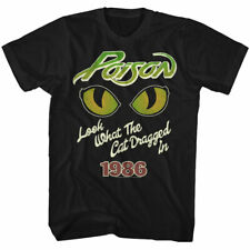 Poison Eyes T Shirt Mens Licensed Rock N Roll Music Band Tee Retro New Black