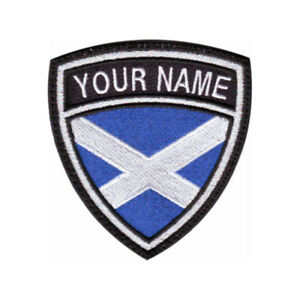 Scotland Personalized Crest Embroidered Patch